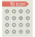 Media buttons icon set vector image vector image