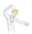 Successful Business man Dancing Happy Person vector image