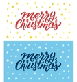Merry Christmas retro flat style greeting cards vector image