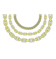 Gold chains vector image