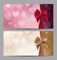 gift voucher template for your vector image vector image