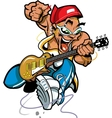 Wild Rock Guitar Player vector image
