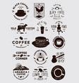 15 Coffee Vintage Badges vector image