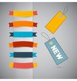 Labels Tags Ribbons Set in Retro Colors vector image vector image