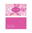 pink abstract triangles horizontal frame pattern vector image