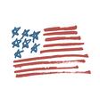 american flag calligraphy vector image