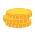 coin money stack vector image