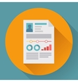 Flat icon of business concept cv resume vector image