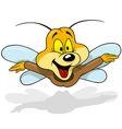 Flying Happy Beetle vector image