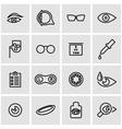 line optometry icon set vector image