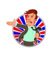 politician says speech vector image