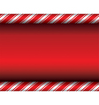 Red Candy Cane Christmas Background vector image