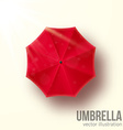 red umbrella top view vector image