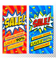 sale web banners set of pop art comic sale vector image