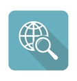 Square global search icon vector image