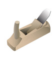 wooden carpenters jointer vector image