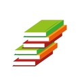 pile books learning education online vector image