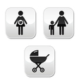 baby pram buttons vector image vector image