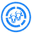 livestock diagram rounded grainy icon vector image