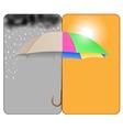 sunnyrainy vector image vector image