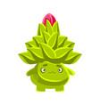 funny sad succulent emoji cartoon emotions vector image
