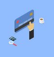 shopping with credit card isometric vector image