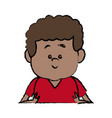little boy child young people character vector image