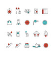 aviation or airport outline icon collection vector image