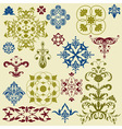 vintage floral bright design elements vector image vector image