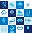 Water Emblems Set vector image