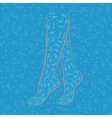 vector silhouette of women's feet vector image vector image