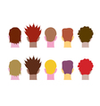 set of heads vector image vector image