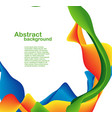color shapes and lines vector image