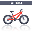 fat bike in flat style over white vector image