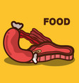 meat bacon and sausage fast food icon vector image