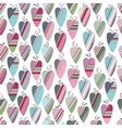 Seamless pattern with vintage tilda hearts on vector image