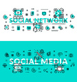 Social Media and Social Network heading title web vector image