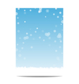 Winter vertical banner template background with vector image