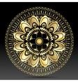 Islamic gold on dark mandala round ornament vector image