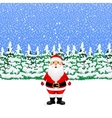 Santa Claus in the winter snowy forest vector image