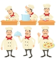 Cook kitchener concept set cartoon style vector image