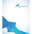 Paper template with blue abstract stripe with vector image vector image