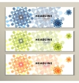 Set for design in molecules abstract style vector image