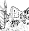 Cityscape Street sketch vector image vector image