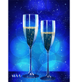 Champagne flutes vector image