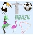 Brazil symbols vector image