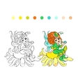 Cartoon fairy coloring page vector image