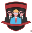 Guards in black suits vector image