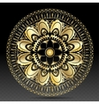 Islamic gold on dark mandala round ornament vector image