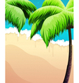 Palm trees sea and sand vector image